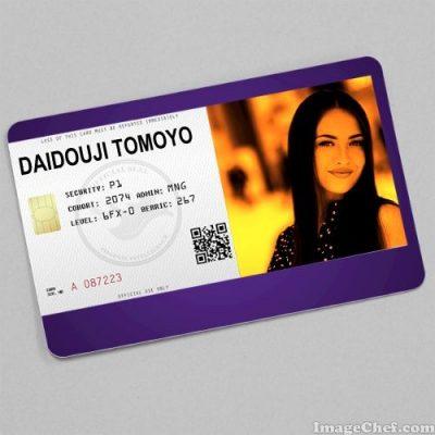 ID card image thẻ ra vào